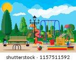 kids playground kindergarten... | Shutterstock .eps vector #1157511592