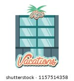 hotel building vacations days... | Shutterstock .eps vector #1157514358