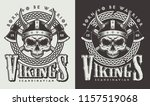 t shirt print with viking head... | Shutterstock .eps vector #1157519068