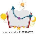 illustration of a book clock... | Shutterstock .eps vector #1157528878