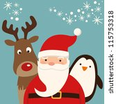 santa claus and friends   Shutterstock .eps vector #115753318