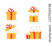 gift boxes. set of different... | Shutterstock .eps vector #1157534158