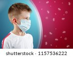 a little boy  a child in a... | Shutterstock . vector #1157536222