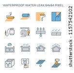 waterproof and water leak icon... | Shutterstock .eps vector #1157542102