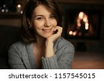 beautiful caucasian smiling... | Shutterstock . vector #1157545015