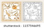 poster with decorative flowers... | Shutterstock .eps vector #1157546695
