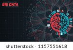 big data circular visualization.... | Shutterstock .eps vector #1157551618