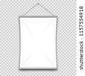 white mock up textile banner. | Shutterstock .eps vector #1157554918