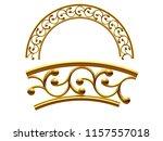 golden ornamental segment  ... | Shutterstock . vector #1157557018