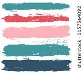 brush strokes set backgrounds.... | Shutterstock .eps vector #1157564092