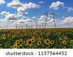 high power electricity poles in ... | Shutterstock . vector #1157564452