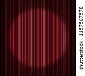 red stage curtain realistic... | Shutterstock .eps vector #1157567578