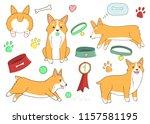 cute cartoon dogs clipart.... | Shutterstock .eps vector #1157581195