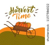 harvest time illustration with... | Shutterstock .eps vector #1157586022