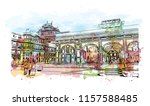 city palace  jaipur  which... | Shutterstock .eps vector #1157588485