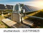 solar photovoltaic panel... | Shutterstock . vector #1157593825