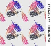 pattern with bird feather on... | Shutterstock .eps vector #1157595535