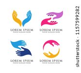 hand care logo design template. ... | Shutterstock .eps vector #1157599282