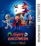 halloween poster illustration | Shutterstock .eps vector #1157603725