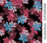 seamless tropical flower... | Shutterstock . vector #1157604508