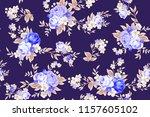 seamless cute vintage pattern...   Shutterstock .eps vector #1157605102