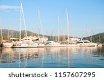 harbor with yachts and... | Shutterstock . vector #1157607295