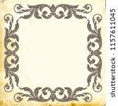 retro baroque decorations...   Shutterstock .eps vector #1157611045