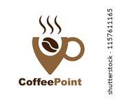 logo for coffee shop. outline... | Shutterstock .eps vector #1157611165