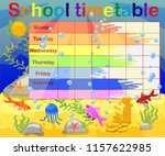 school timetable with marine... | Shutterstock .eps vector #1157622985
