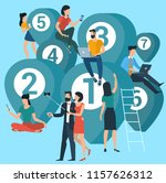 flat design people with... | Shutterstock .eps vector #1157626312