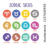 zodiac signs  aquarius  libra ... | Shutterstock .eps vector #1157630935