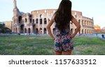 beautiful slender millennial... | Shutterstock . vector #1157633512
