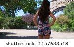 beautiful slender millennial... | Shutterstock . vector #1157633518