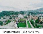 happy bride and groom after... | Shutterstock . vector #1157641798