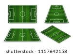 soccer field  european football ... | Shutterstock .eps vector #1157642158