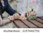 young wedding couple  beautiful ... | Shutterstock . vector #1157642752