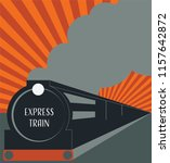 locomotive express train with...   Shutterstock .eps vector #1157642872