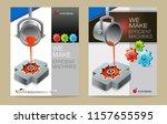 brochure of an industrial... | Shutterstock .eps vector #1157655595