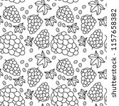 grapes seamless pattern. hand... | Shutterstock .eps vector #1157658382