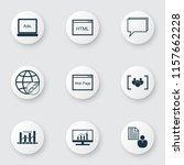 seo icons set with focus group  ...   Shutterstock .eps vector #1157662228