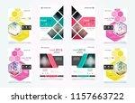 cover design template for... | Shutterstock .eps vector #1157663722