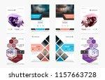 set of design of brochure ... | Shutterstock .eps vector #1157663728
