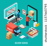 mail isometric concept... | Shutterstock .eps vector #1157665795