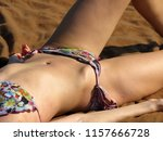 young woman sunbathing on the... | Shutterstock . vector #1157666728
