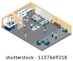 office isometric composition... | Shutterstock .eps vector #1157669218