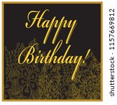 birthday card with golden... | Shutterstock .eps vector #1157669812
