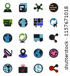 color and black flat icon set   ... | Shutterstock .eps vector #1157671018