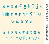 carved alphabet number and... | Shutterstock .eps vector #1157671735