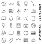 thin line vector icon set  ... | Shutterstock .eps vector #1157675005