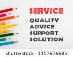 service written colour pencils... | Shutterstock . vector #1157676685